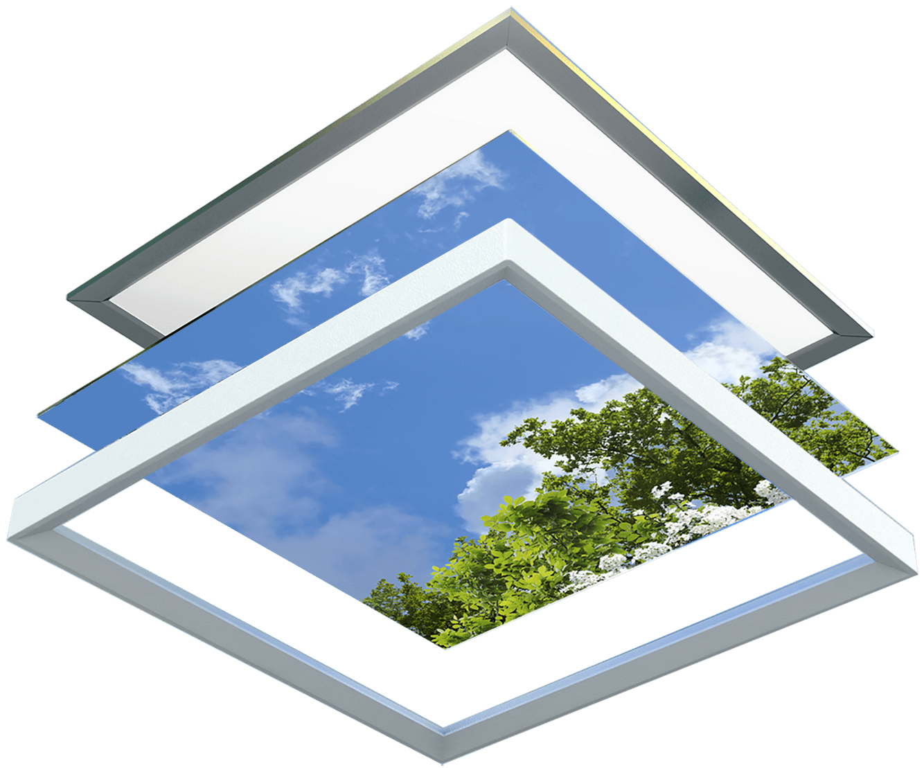 Wolkenplafonds LED onderdelen OpenCeilings
